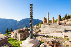 apollo greece tempel Arkivbild