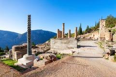 apollo greece tempel Arkivfoto