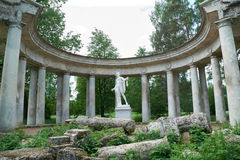 Apollo kolonnad i Pavlovsk, St Petersburg Arkivfoto