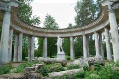 Apollo kolumnada w Pavlovsk, St Petersburg zdjęcie stock