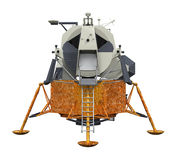 Apollo Lunar Module. Isolated on white background. 3D render Royalty Free Stock Images