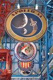 Apollo Mission Badges, Cape Canaveral, Florida Stock Photography