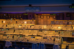 Apollo Mission Control NASA Kennedy Space Center Royaltyfria Foton