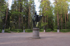 Apollo and muses. Twelve tracks in Pavlovsk park Stock Photography