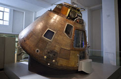 Apollo 10 Nakazowy moduł w Londyn nauki muzeum Fotografia Royalty Free