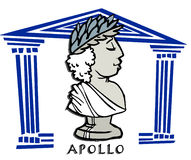 Griechische Gott Apollo-Karikaturillustration Vektor ...