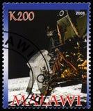 Apollo 11 portostämpel från Malawi Fotografering för Bildbyråer