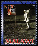 Apollo 11 Postage Stamp from Malawi Royalty Free Stock Image