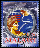 Apollo 17 Postage Stamp from Malawi Royalty Free Stock Photography