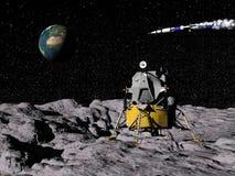 Apollo program - 3D render stock illustration