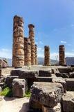 2 apollo s tempel Royaltyfri Fotografi