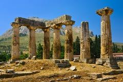 2 apollo s tempel Arkivbilder