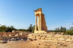 2 apollo s tempel cyprus limassol pir Fotografering för Bildbyråer