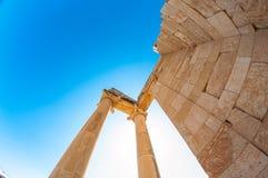 2 apollo s tempel Limassol område cyprus Arkivbild
