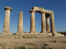 Temple of Apollo. The temple of Apollo in Corinth, Greece Royalty Free Stock Photography