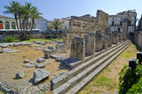 Apollo's Temple in Siracusa - Sicily, Italy Stock Images