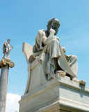 Apollo and Socrates statues Royalty Free Stock Photo
