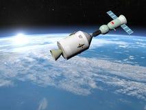 Apollo-Soyuz 3D testproject - geef terug Stock Fotografie