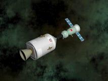 Apollo-Soyuz provprojekt - 3D framför Royaltyfri Bild