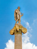 Apollo statue in the Academy of Athens Royalty Free Stock Images