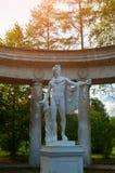 Apollo-Statue in der Kolonnade von Apollo am Pavlovsk-Parkgebiet in Pavlovsk, St Petersburg, Russland lizenzfreies stockfoto