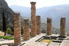 apollo tempel Royaltyfri Fotografi