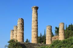 Apollo-Tempel in Delphi, Griechenland. Stockfotografie