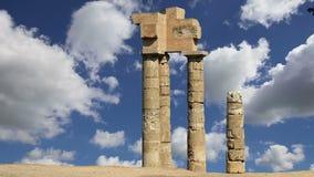 Apollo-Tempel an der Akropolise von Rhodos, Griechenland stock video footage