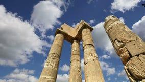 Apollo-Tempel an der Akropolise von Rhodos, Griechenland stock footage