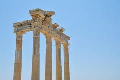 Apollo-tempel in der Seite Stockbilder