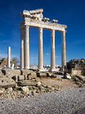 Apollo-Tempel, Seite Stockfotos