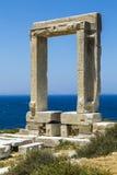 Apollo tempel, gränsmärke av Naxos, Grekland Arkivbild