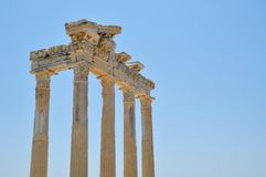 Apollo-tempel in side Stock Images