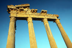 Apollo Temple. Sunset at the Apollo Temple in Side, Turkey stock image
