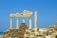 Apollo Temple. In Side Turkey Royalty Free Stock Photo