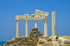 Apollo Temple. In Side Turkey Stock Photography