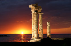 Apollo Temple at the Acropolis of Rhodes Royalty Free Stock Photography