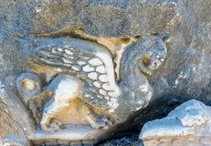 Apollo Temple bei Didyma in Didim, Aydin, die Türkei lizenzfreies stockfoto