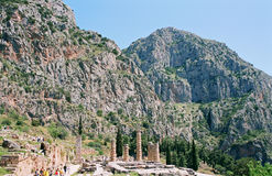 Apollo temple in Delphi Royalty Free Stock Photography