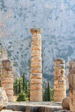 Apollo temple in Delphi, Greece. Royalty Free Stock Images