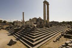 Apollo Temple Didim. Exterior view of ruins of Apollo Temple, Didim, Adyin Province, Turkey Stock Photos