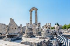 Apollo Temple a Didyma in Didim, Aydin, Turchia fotografia stock libera da diritti