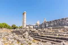 Apollo Temple a Didyma in Didim, Aydin, Turchia immagini stock
