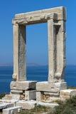 Apollo Temple entrance, Naxos island, Cyclades Stock Photography