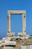 Apollo Temple entrance, Naxos island, Cyclades Stock Photo