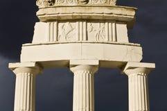 Apollo temple in Greece. Detail of the Delfis Apollo temple in Greece Royalty Free Stock Photos