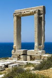 Apollo temple, landmark of Naxos, Greece Stock Photography