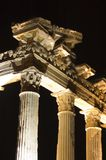 Apollo Temple by night. In Side Turkey Royalty Free Stock Photo