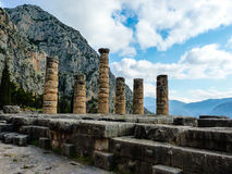 Apollo Temple in oracle Delphi, Greece Stock Images
