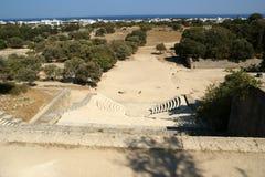 Apollo Temple på akropolen av Rhodes, Grekland Royaltyfria Foton